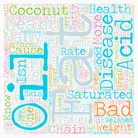 Is Saturated Fat In Coconut Good For Your Heart Health text background wordcloud concept