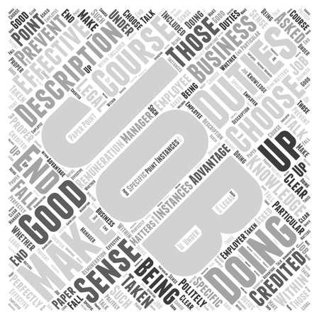 JH Job Description Word Cloud Concept