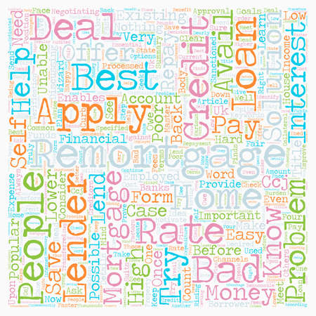 Learn About The Problem Remortgage text background wordcloud concept Illustration