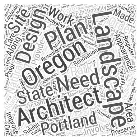 Landscape architect in Oregon Word Cloud Concept