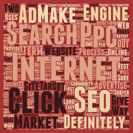 quite time: JP PPC and SEO 1 text background wordcloud concept