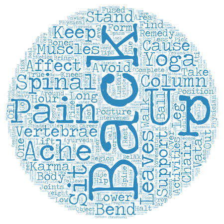 Keep back pain at bay text background wordcloud concept