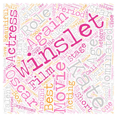 Kate Winslet text background wordcloud concept