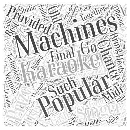 heats: Karaoke machines Word Cloud Concept