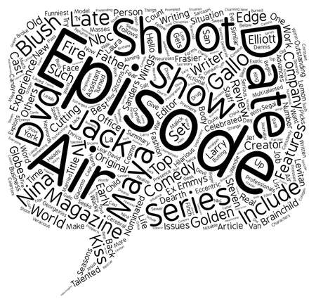 lates: Just shoot me DVD review text background wordcloud concept Illustration