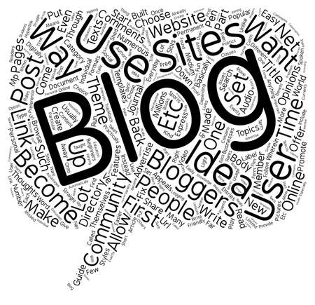 How to blog text background wordcloud concept