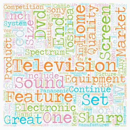 Latest top tv brands to hit the market text background. Illustration