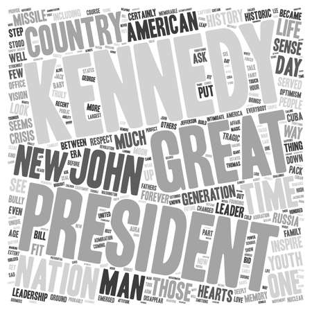 george washington: John F Kennedy 1 text background wordcloud concept Illustration