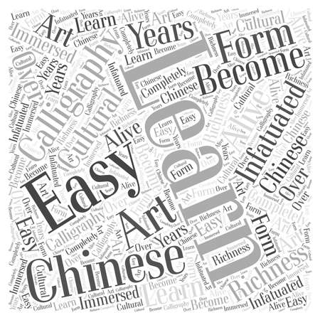 Learn chinese calligraphy Word Cloud Concept