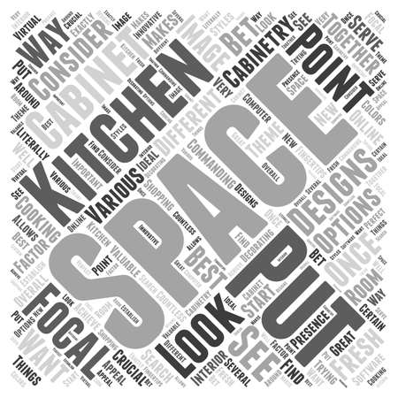 Kitchen cabinet designs Word Cloud Concept Illustration