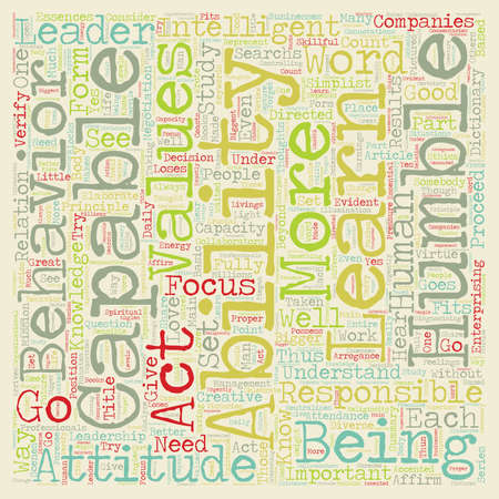 Leadership Is Based On Values Abilities of a Bigger Leader text background wordcloud concept