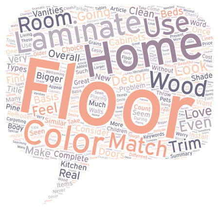 cor: Laminate Flooring Colors to Match Your Decor text background wordcloud concept Illustration