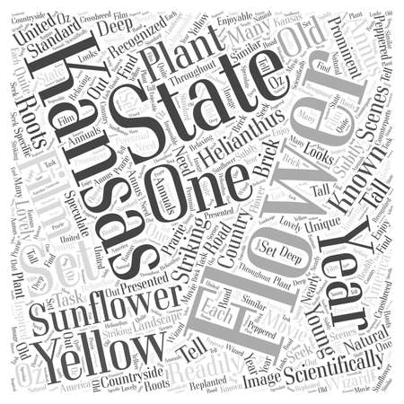 Kansas state flower Word Cloud Concept 向量圖像