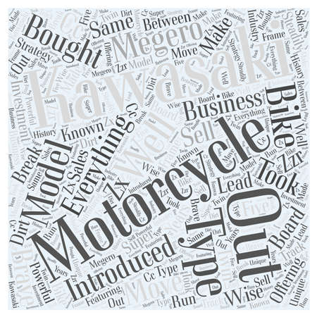 bought: Kawasak Motorcycles Word Cloud Concept