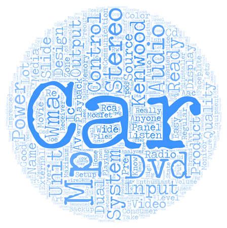 Kenwood Car Stereo testo wordcloud sfondo