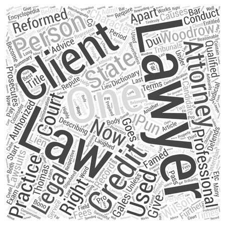 says: Lawyers Are The Most Laughed Off Professionals Word Cloud Concept Illustration