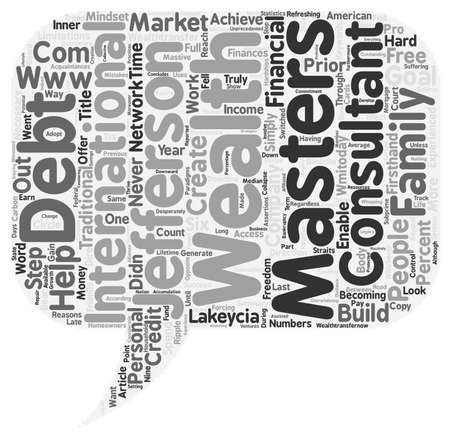 Lakeycia Jefferson on Wealth Masters text background wordcloud concept
