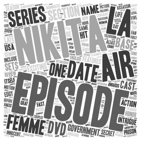 nominated: La Femme Nikita DVD Review text background wordcloud concept