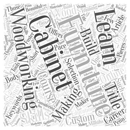 articles of furniture: Learn how to build custom furniture word cloud concept