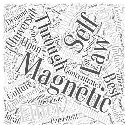 latent: Laws of magnetic development word cloud concept