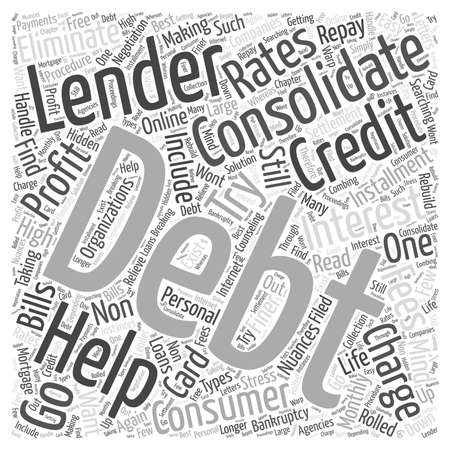 Lender for Debt Consolidation Word Cloud Concept