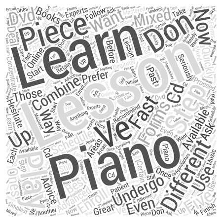 ピアノの単語の雲の概念を再生する学習  イラスト・ベクター素材