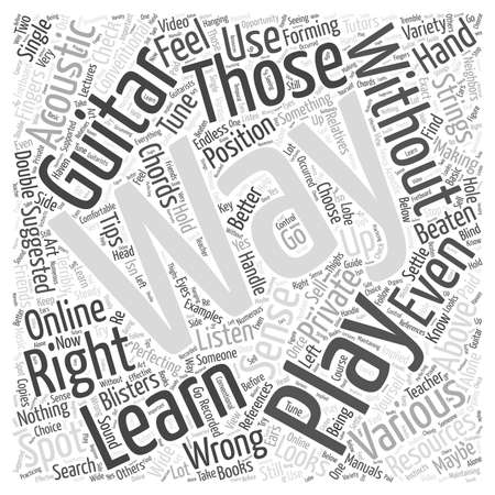 learn to play an acoustic guitar Word Cloud Concept