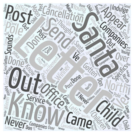 letter from santa Word Cloud Concept