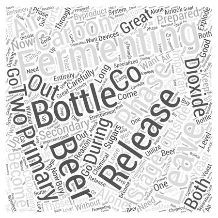 Leaving Your Beer Alone to Become Great Word Cloud Concept Illustration