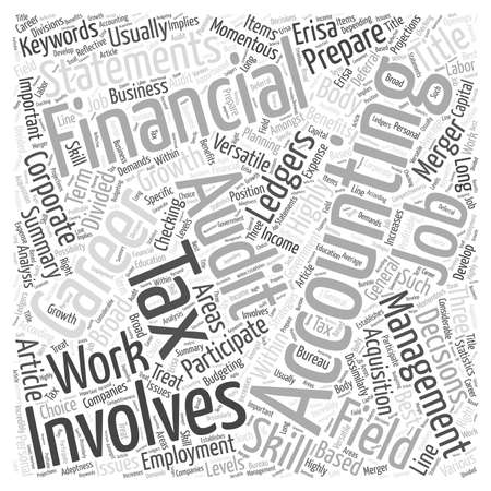 versatile: A Career In Accounting Word Cloud Concept