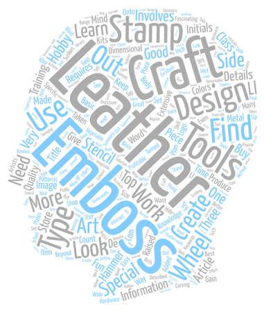 details: Leather Craft Details text background wordcloud concept Illustration