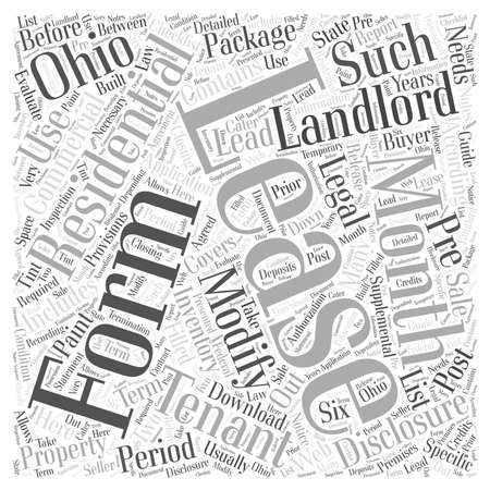 Legal Forms For Landlords In Ohio Word Cloud Concept Royalty Free - Ohio legal forms
