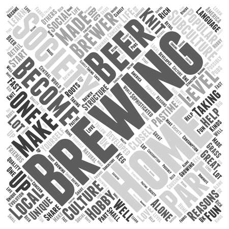 closely: A Brewing Society Word Cloud Concept