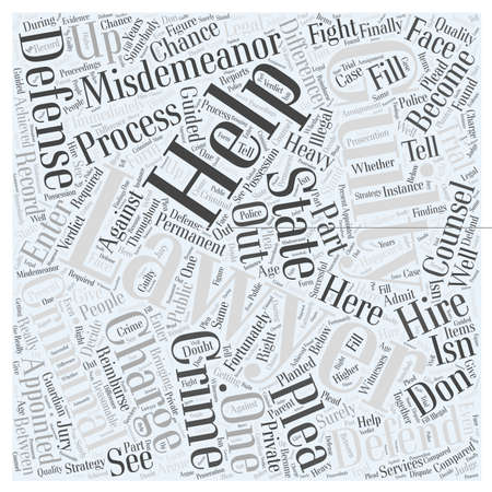 fortunately: A Criminal Defense Lawyer Can Help You Defend Against a Misdemeanor Charge Word Cloud Concept Illustration