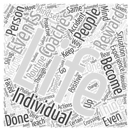 occurrence: Life Coaching Through Experience Word Cloud Concept Illustration