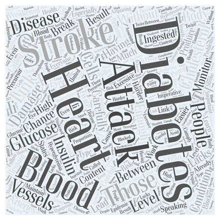 lacks: Link between diabetes heart attack and stroke Word Cloud Concept