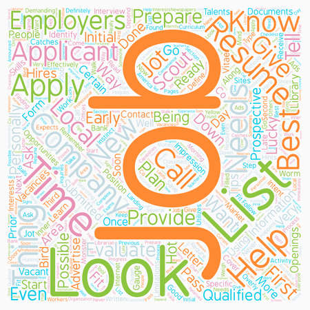 prior: JH Learn how and where to look for jobs 1 text background wordcloud concept