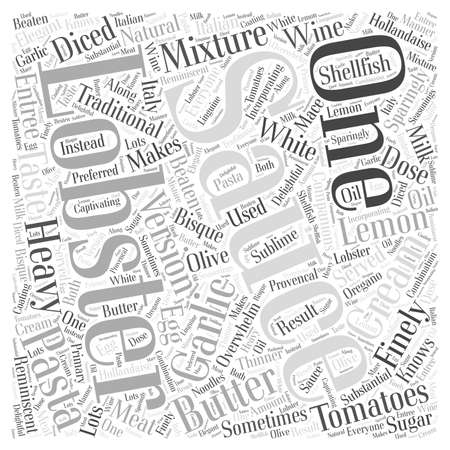 finely: lobster sauce Word Cloud Concept