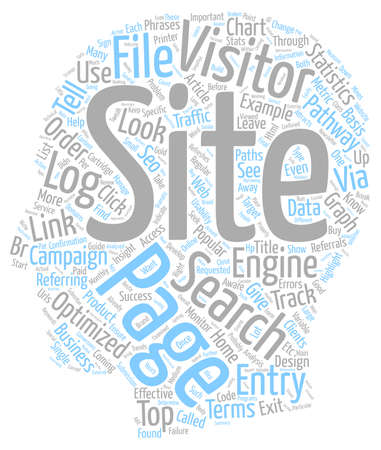 Log File Analysis and SEO text background wordcloud concept Illustration