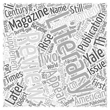 Literary magazine publishing Word Cloud Concept Ilustração