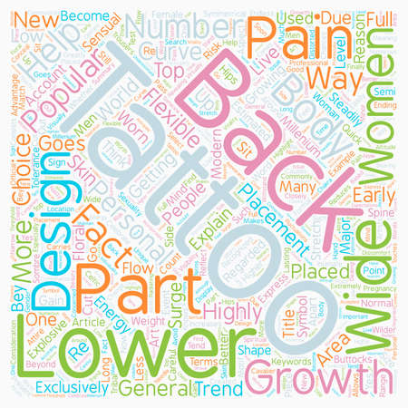 Lower Back Tattoos Why Are They So Popular text background wordcloud concept