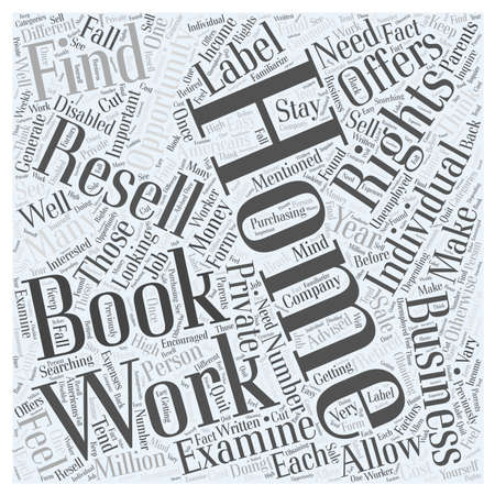 Looking to Work from Home Make Money with Private Label Ebook Resell Rights Word Cloud Concept