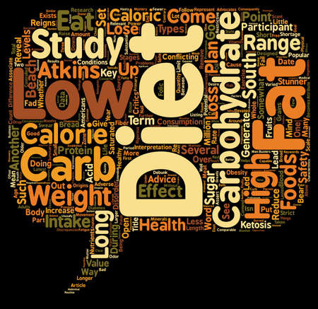 Low Carb Fad Diets Revealed text background wordcloud concept