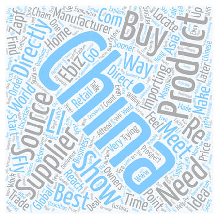 Made In China How To Source Products Directly From Asia text background wordcloud concept