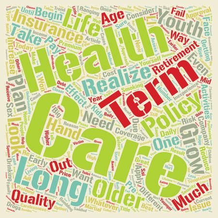 Long Term Care Health Insurance A Closer Look text background wordcloud concept