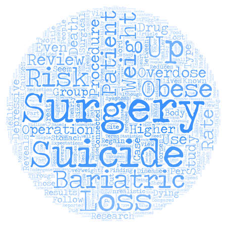 bariatric: Lost Lives Through Weight Loss text background wordcloud concept Illustration
