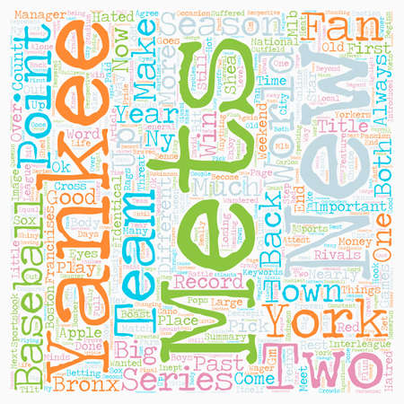 Mets Yankees Column text background wordcloud concept