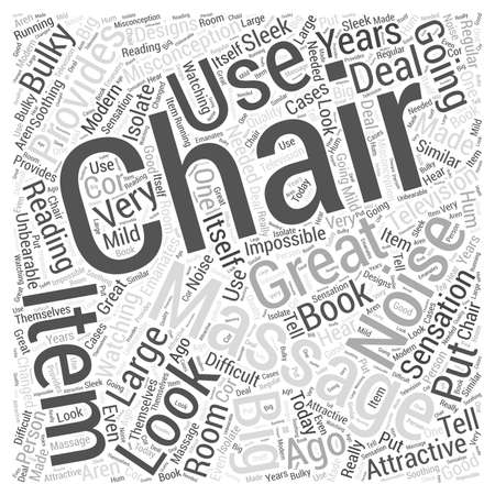 Massage chair Word Cloud Concept