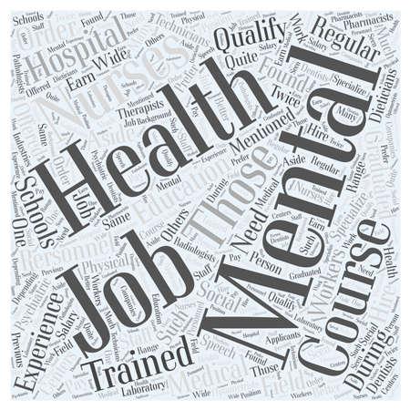 qualify: Mental health jobs Word Cloud Concept