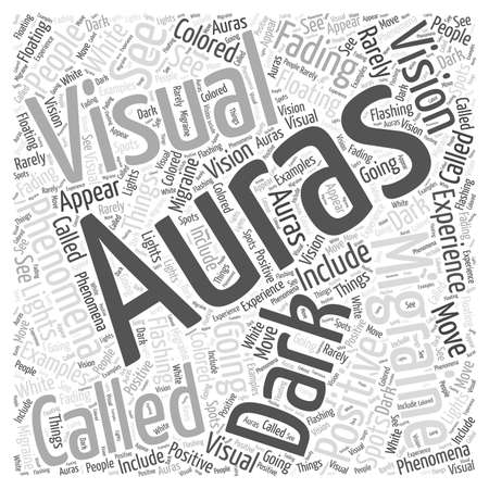 auras: Migraine Auras Word Cloud Concept